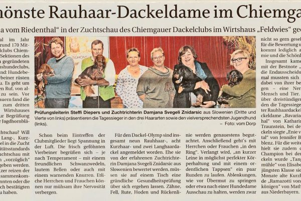 Bericht im Trostberger Tagblatt vom 12. Oktober 2019